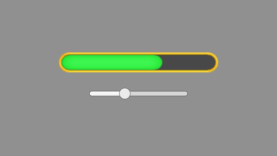 端が直線にならないHPゲージの作り方(Shader)