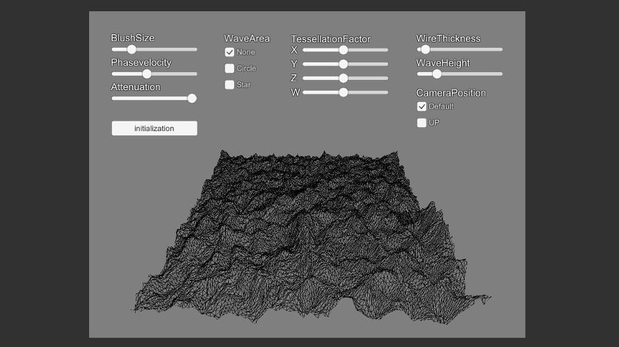 Tessellationを用いた波紋の作成