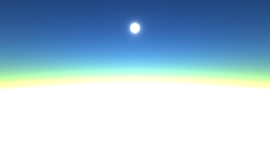 空の色(大気散乱シミュレーション)